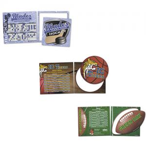 Sports Schedule Magnet with Cutout Car Magnet