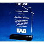 House Shaped Acrylic Award/Paperweight