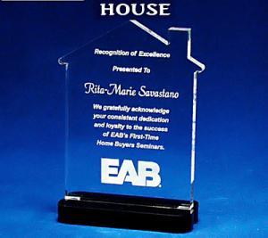 House Shaped Acrylic Award/Paperweight