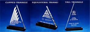 Triangle Shaped Acrylic Award/Paperweight