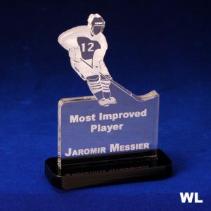 Ice Hockey Player Shaped Acrylic Award/Paperweight