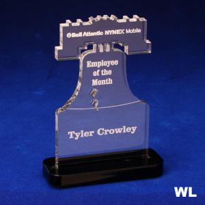 Liberty Bell Shaped Acrylic Award/Paperweight