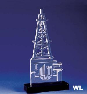 Oil Rig Shaped Acrylic Award/Paperweight