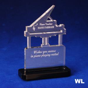 Piano Shaped Acrylic Award/Paperweight
