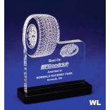 Tire Shaped Acrylic Award/Paperweight