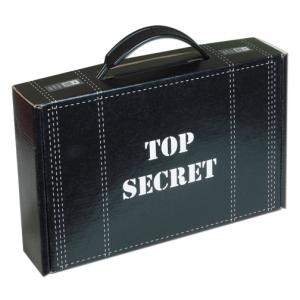 """7 1/4"""" x 4"""" x 4"""" Mailer Tuck Box with Plastic Handle"""