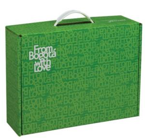 """12 1/4"""" x 9 1/2"""" x 4""""  Mailer Tuck Box with Plastic Handle"""