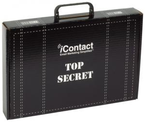 """Briefcase Style 15"""" x 10 1/4"""" x 2"""" Mailer Tuck Box with Plastic Handle"""