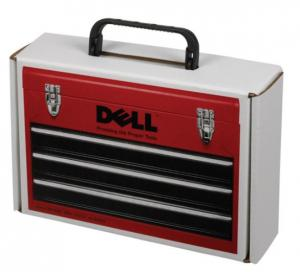 """9 3/4"""" x 6 3/4"""" x 2 3/4"""" Mailer Tuck Box with Plastic Handle"""