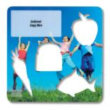 Laminated Healthy Eating Shapes Stencil