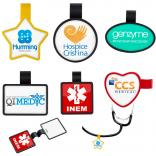 Stock Shaped Stethoscope Name Badge Clip-on