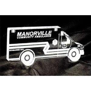 Ambulance Shaped Acrylic Award/Paperweight