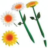 Plastic Flower Topper Pen