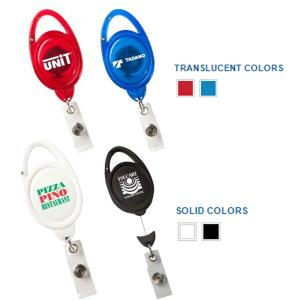 Econo Carabiner Retractable Badge Holder