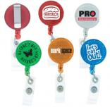 Round Shaped Reflective Clip Badge Reel
