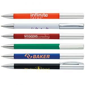 Streamlined Silver Twist Action Pen