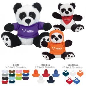 """6"""" Huggable Plush Panda Bear"""