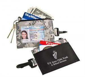 Digital Camo ID Holder with Clip