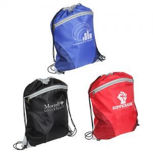 Zip Front Mesh Drawstring Bag