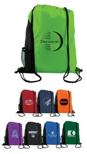 Jetty Drawstring Backsack with Side Pocket