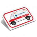 Large EMS Themed Ambulance Magnetic Clip