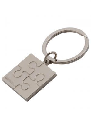Puzzle Themed Metal Key Tag