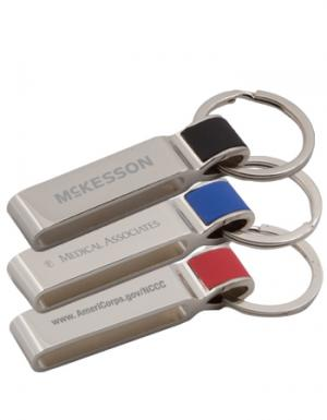 Shiny Arlington Metal Keychain Tag
