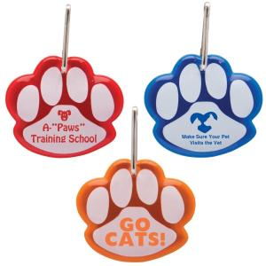 Reflective Paw Shaped Collar Tag