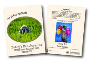 Dog Grass Seed Packets