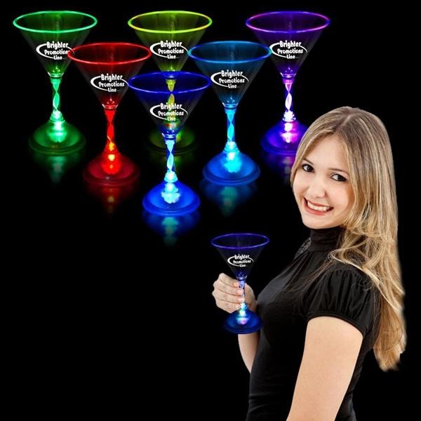 7oz. Multicolor Light Up Martini Glass