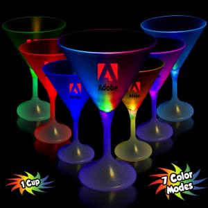 7 oz. Light Up Frosted Top Martini Glass