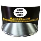 Black Train Conductor Paper Hat