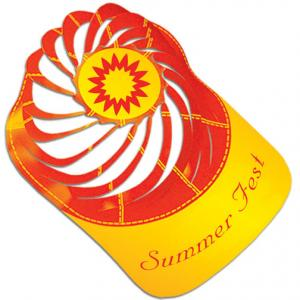 Kids Summer Sun Theme Spiral Paper Hat with Logo d225c5894d4