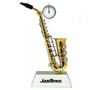 Mini Saxophone Desktop Clock