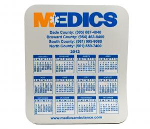 Full Color Imprint EMS Calendar Mousepad