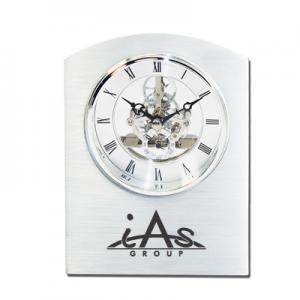 Executive Moving Gears Glass Desk Clock