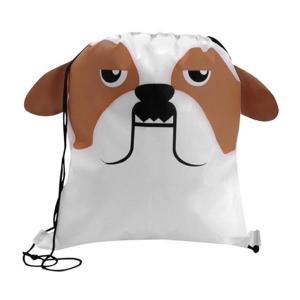 Bulldog Shaped Paws N Claws Drawstring Backpack