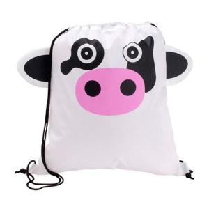 Cow Shaped Paws N Claws Drawstring Backpack
