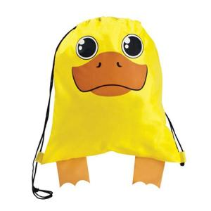 Duck Shaped Paws N Claws Drawstring Backpack