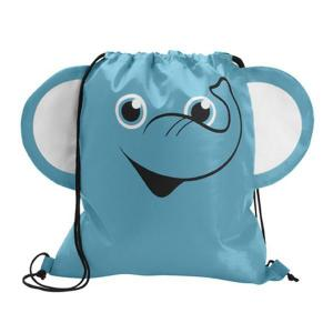 Elephant Shaped Paws N Claws Drawstring Backpack