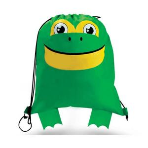 Frog Shaped Paws N Claws Drawstring Backpack