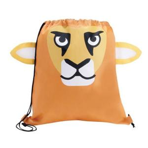 Lion Shaped Paws N Claws Drawstring Backpack