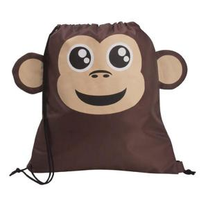 Monkey Shaped Paws N Claws Drawstring Backpack