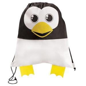 Penguin Shaped Paws N Claws Drawstring Backpack
