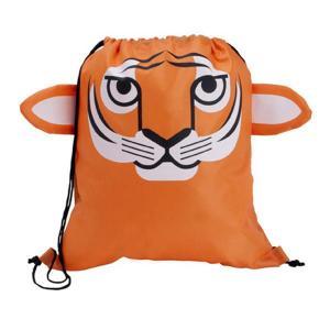 Tiger Shaped Drawstring Backpack
