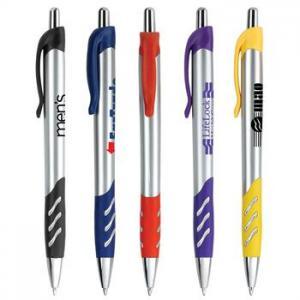 Wavy Plastic Ballpoint Pen