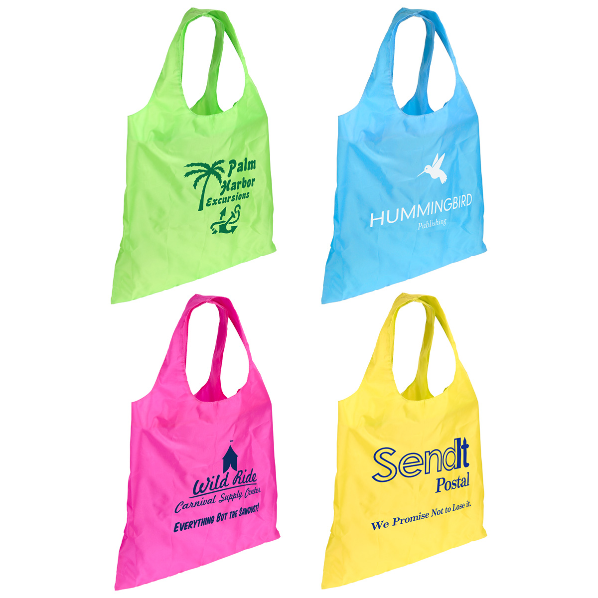 Over-the-Shoulder Folding Tote Bag with Snap & Clip