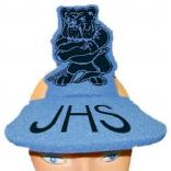 Standing Bulldog Shaped Foam Visor