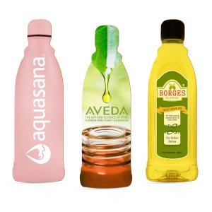 Full Color Imprint  Bottle Shaped Emery Board