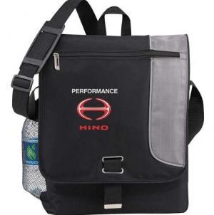 High Traffic Vertical Laptop Messenger Bag